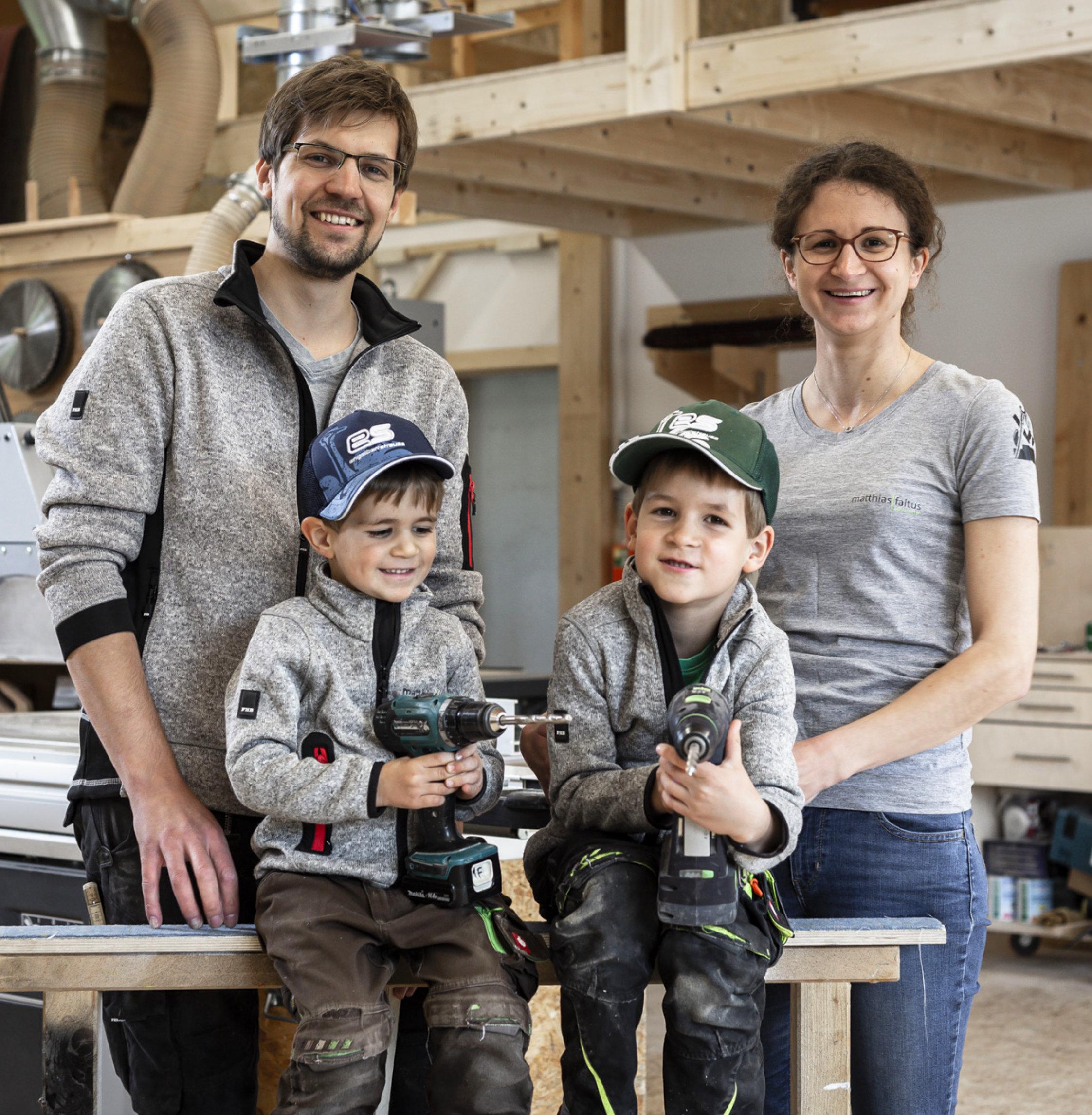 Matthias Faltus mit Familie
